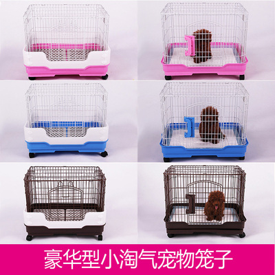 Luxury small dogs dog cage pet cage cat cage rabbit cage Jiangsu, Zhejiang and Anhui shipping