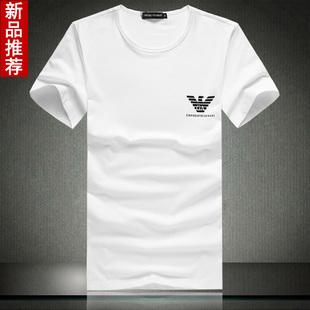 海外代购国际品牌男士短袖t恤男名牌衣服韩版流行男装t恤圆领