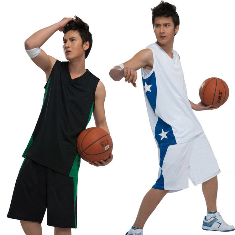 New men's basketball suits suits basketball clothes training clothing print custom shirt printing, 16 colours