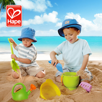 German Hape children's beach toys suit Cassia baby bath playing with sand dredging tool large shovel