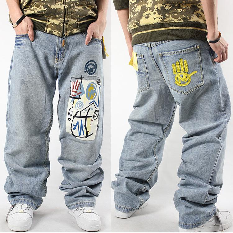 Джинсы мужские Miskeen 6012 HIPHOP Классическая джинсовая ткань