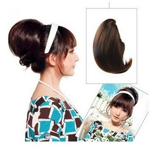 Black hair bride wig Hepburn Hepburn high contract for wig styling brides letting wig