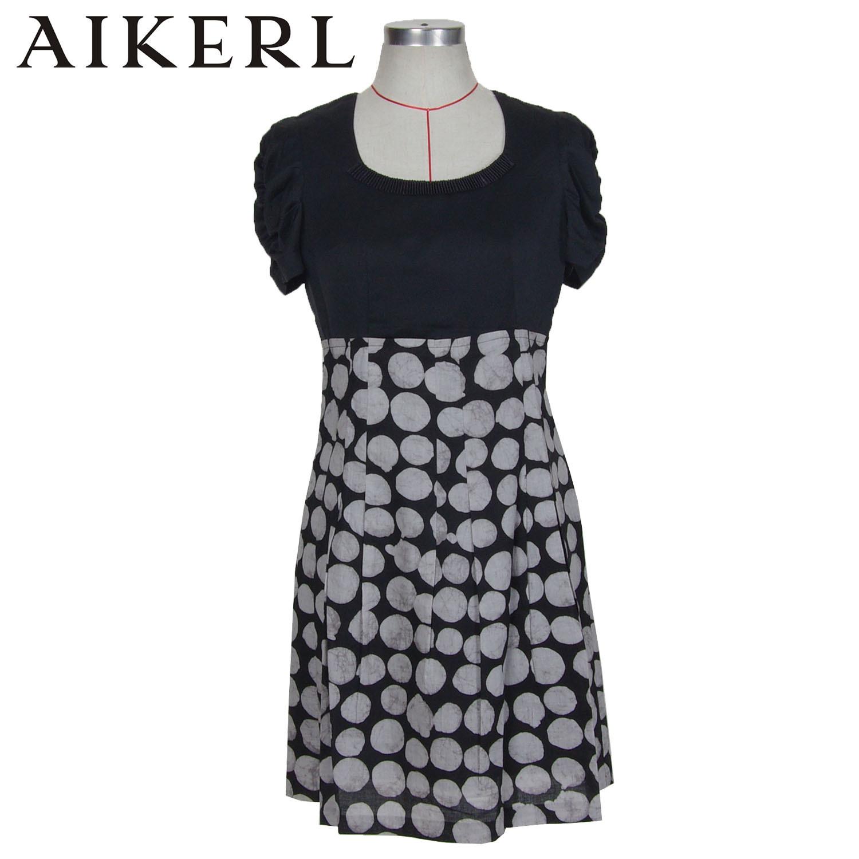 aikerl 艾可儿品牌专柜正品新款特价褶皱袖舒适女装连衣裙