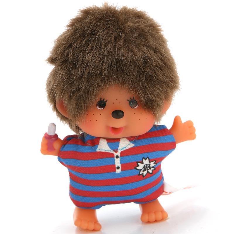 特价正品运动T恤款蒙奇奇玩具卡通玩偶 毛绒公仔超萌娃娃包包挂件