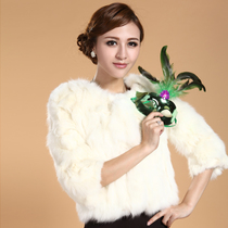 Import Fox wool coat fur Fox Fur short fur round neck coat of seven