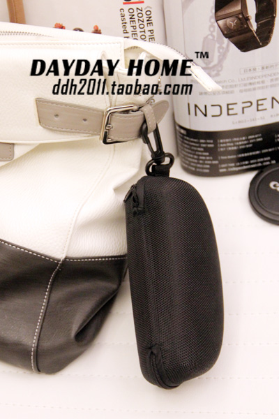 Discount swap. atmospheric black zip cord hook portable bulk glasses case