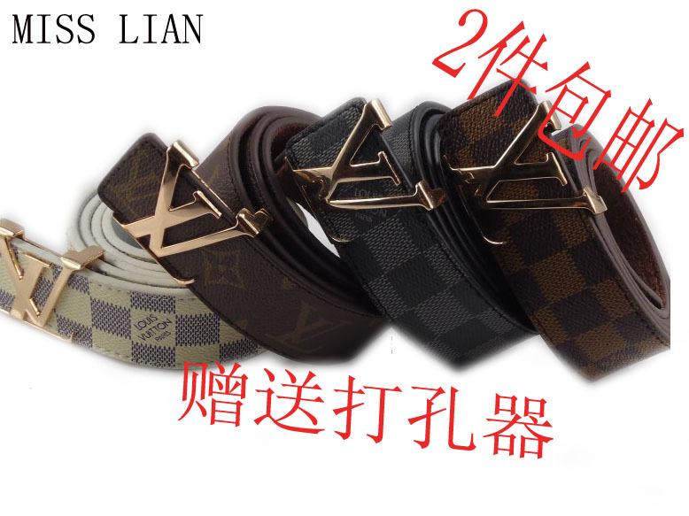 Ремень Louis Vuitton 007 2012 LV Обычная модель Кожа быка Для отдыха Грубые украшения Гладкие пряжки Бесцветный
