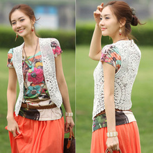 2013 summer new openwork crochet vest vest waistcoat blouse jacket female spring and summer shawl