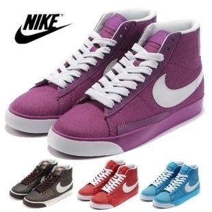 кроссовки Nike BLAZER 317808-500 Кожа быка Унисекс Износостойкая резина