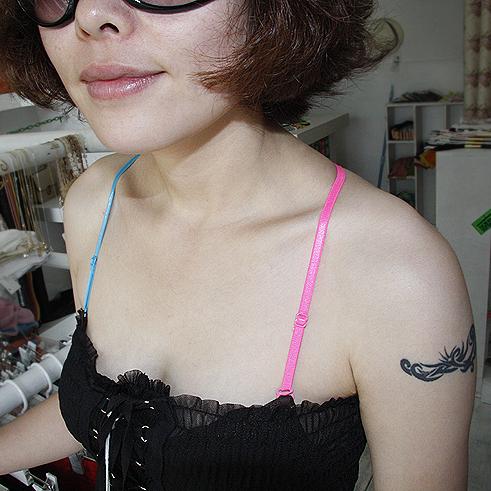 Бретельки 1782 полный 99-почты Южная Корея округлые асимметричной кросс цвет плечевой ремень/нижнее белье/бюстгальтер ремень Лайкра Однотонный цвет