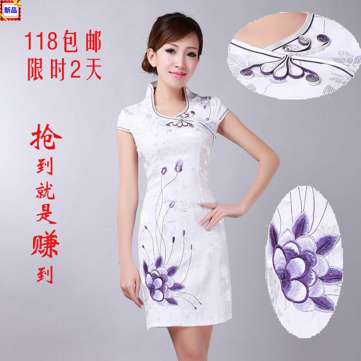 Платье Ципао Ежедневно мода изменения юбка cheongsam qipao китайское платье лета 2013 новые специальные предложения по электронной почте qipao