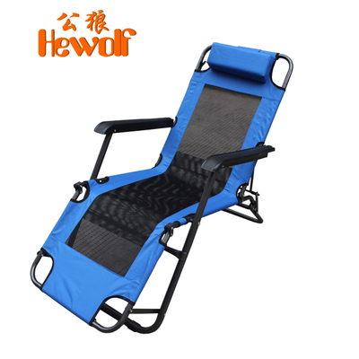 Dual 12 Special male wolf outdoor beach chair portable fishing chair recliner lounge chair indoor camp bed folding chair