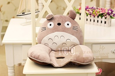 Super Meng chinchillas yellow duckling cartoon bear plush office lumbar cushion lumbar pillow cushion Nice hole