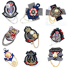 Ling jewelry wholesale custom anchor of Naval Air England College Wind brooch badge medal badge Lace