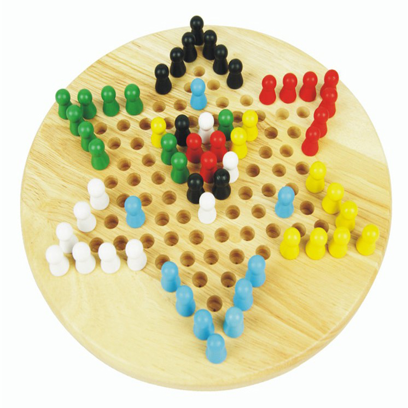 正品大号木制六角跳棋儿童象棋非玻璃珠类成人益智力玩具包邮秒杀图片
