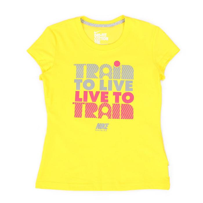 Спортивная футболка Nike 374087 . 374087 Стандартный Воротник-стойка Для спорта и отдыха Влагопоглощающие, Ультралегкие Надпись