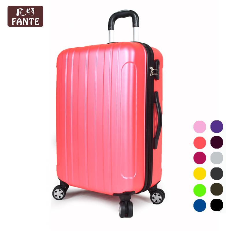 买一送2!ABS+pc拉杆箱万向轮亚光防刮旅行箱行李箱登机箱 包邮费