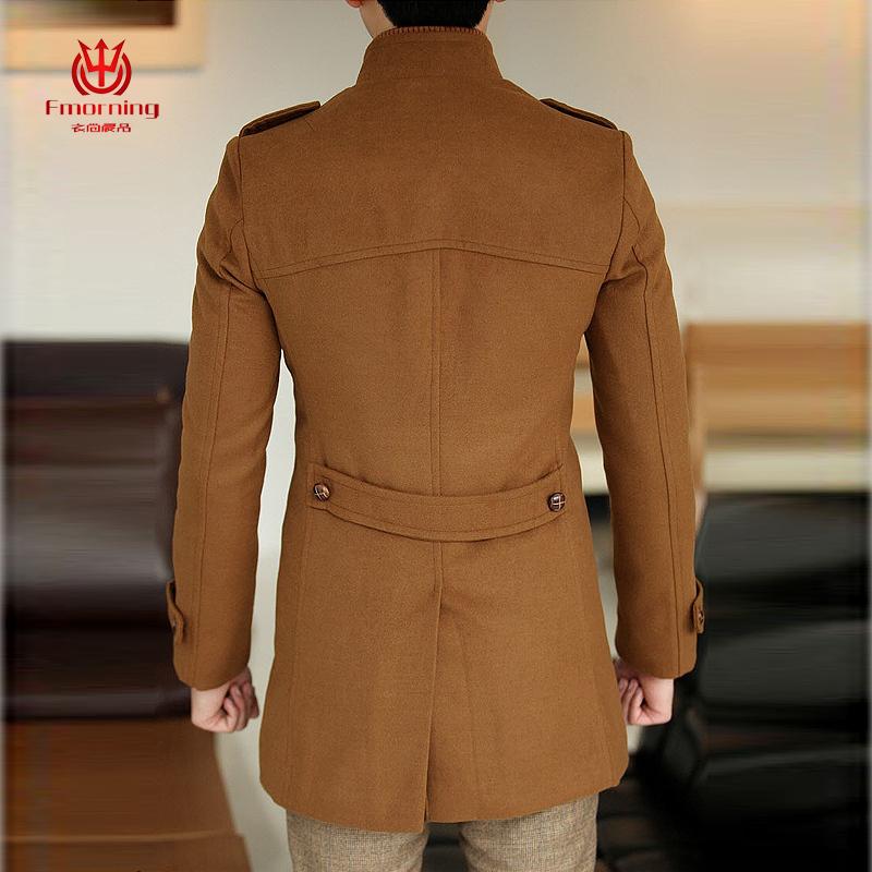 Пальто мужское Fmorning Шерстяная ткань для пальто Без воротника со стойкой