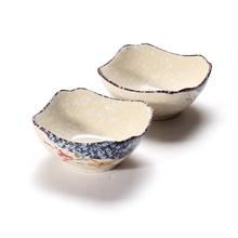 日韩式釉下彩青花瓷餐具四方碗汤碗陶瓷米饭碗防烫凯发k8娱乐手机版用具