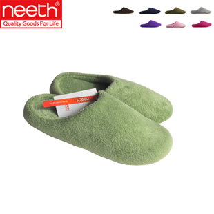 NEETH Japanese coral fleece couples home cotton slipper soles with House shoes slippers