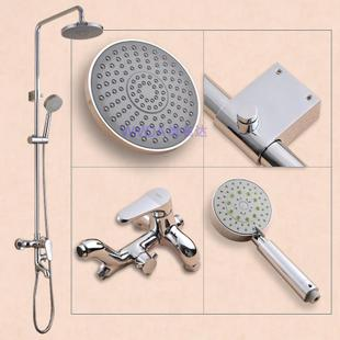 Dimensions up to hot and cold baths bathroom copper lifting water-saving booster multi-function shower set mixer