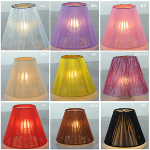 Lamp lighting light lamp shade wire Crystal hand-made multi-color can choose  package mail