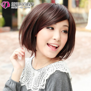 Daixiu wig short hair fashion female girl BOBO head fluffy flower heads women's new hairstyle