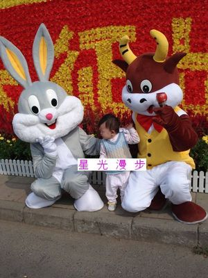 Bugs Bunny cartoon costume cartoon costumes cartoon mascot costume advertising supplies of cattle