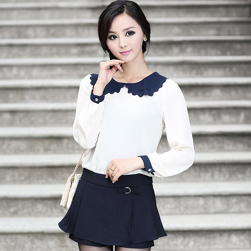 韩版修身雪纺衫 展现女性的魅力