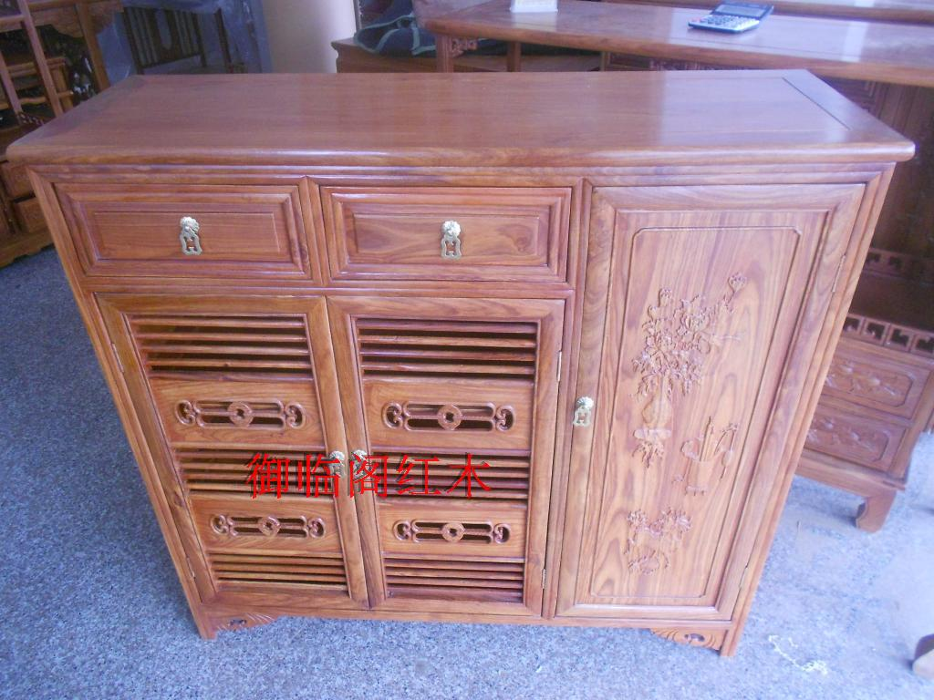 African rosewood three Shoe cabinet