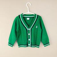 秋装童装韩版男童条纹开衫针织衫纯棉毛衣1-2-3岁长袖宝宝外套