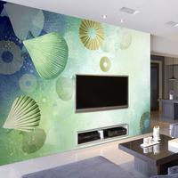 大型壁画 客厅卧室电视背景墙壁纸无纺布 唯美酒店环保墙布 扇贝