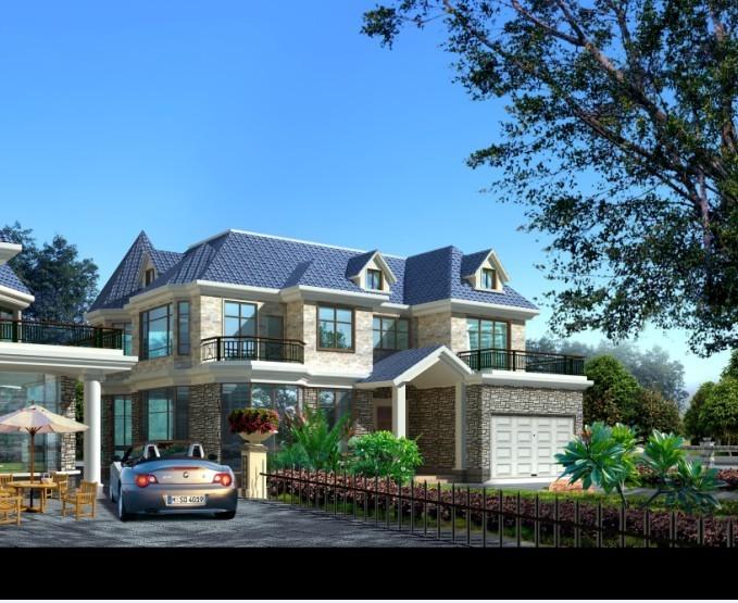别墅设计图效果图 别墅设计图纸 建筑设计 cad制图 j19