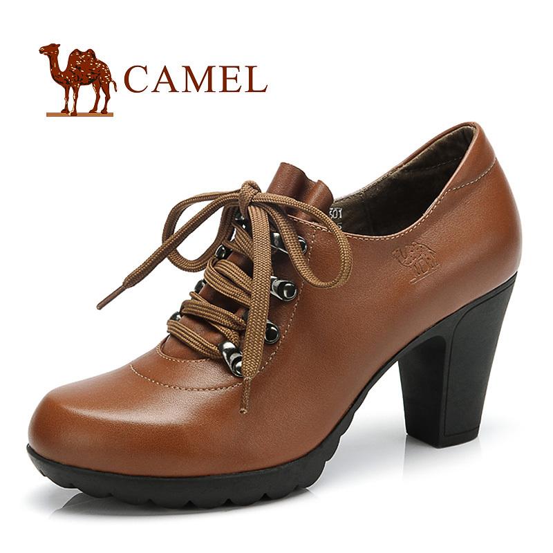 туфли Camel 81050601 2013 Широкий каблук Мягкая кожа Верхний слой из воловьей кожи