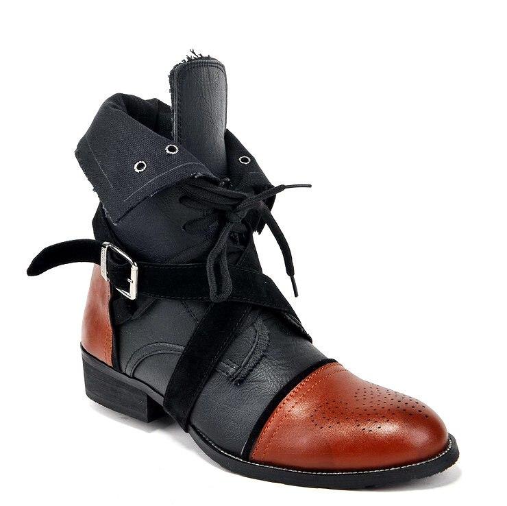 Полуботинки Black dress X-912-151D_ Офисные сапоги Шнурок Искусственная кожа Искусственная кожа Мягкая кожа Среднее голенище ( 20-28 см) Круглый носок