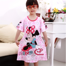 2013 new children's clothing children's pajamas new girls summer cute girl princess nightgown nightdress children