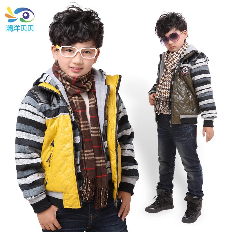 детская куртка Lan Yang Beibei 3072 PU 6-13 Унисекс Кожа Застёжка-молния Высокий воротник