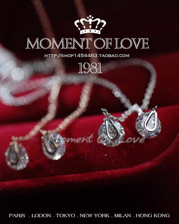 Свисающие серьги Южная Корея Корейский воды женщина свадьба Серьги Серьги ювелирные изделия Имитация алмазов кубического циркония уха линии стихи