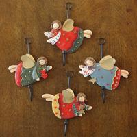 欧式乡村美式田园天使铁艺挂钩创意挂衣钩壁挂 门后衣帽钩 饰品