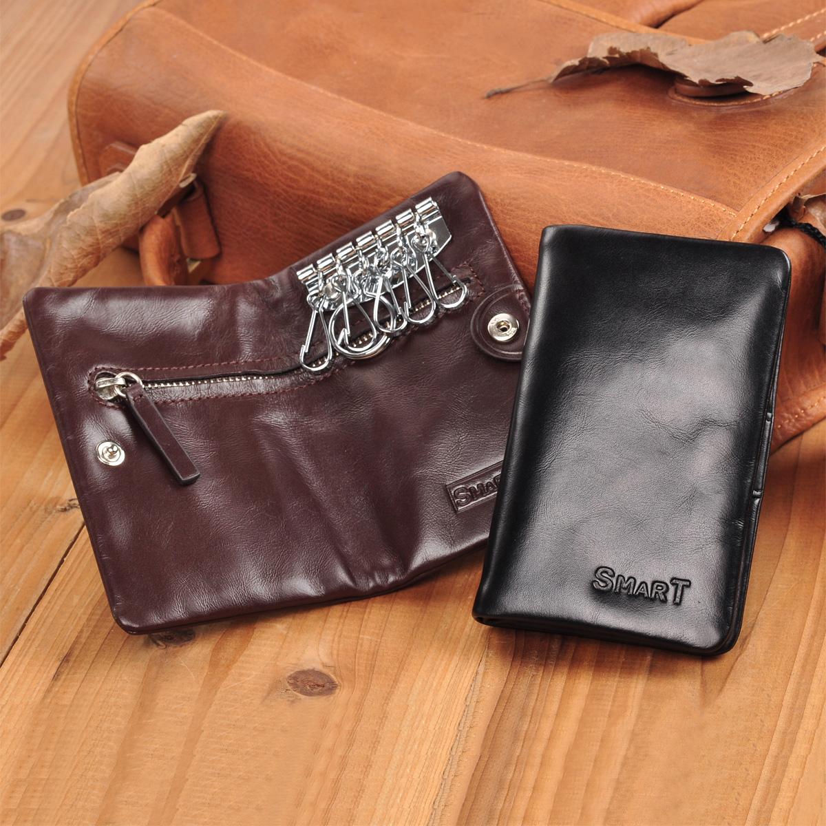 Бумажник Smartyou c1226d Ключница Для молодых мужчин Кожа быка