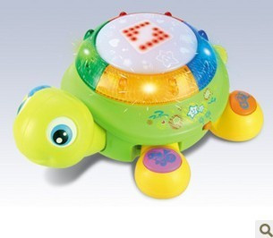 - HOT 596 the Colorful smart little turtle LED / light music / English hs to beat the drum / educational toys 94