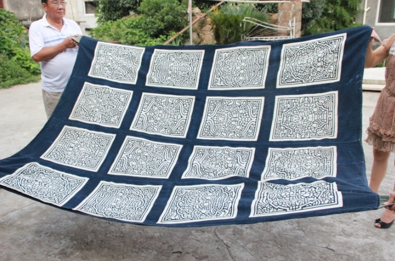 Живопись Синий Индиго---одеяло