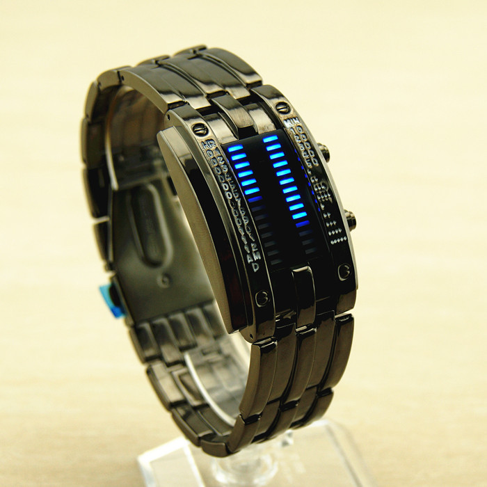LED Sports Casual Electronic Aolly Band Square Dial Men Watch
