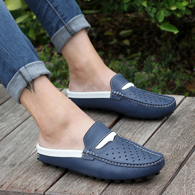 Commodities were dragged men Baotou summer sandals and slippers Korean version of casual sandals men leather slippers men casual shoes