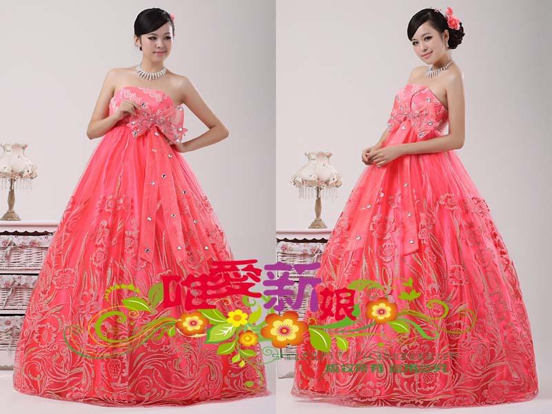 Вечернее платье По беременности и родам платья матери платье Корейский высокой талией платье платье красные женщин могут быть настроены 2012