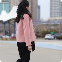 【流年】【珑缘绣色原创设计】粉桃色中式连肩羊绒上衣