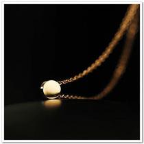 小爸爸小金豆锁骨链女韩国韩版时尚玫瑰金短款钛钢项链不褪色百搭