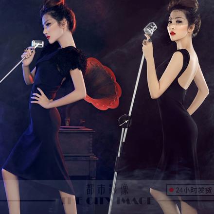Вечерние платья Свадебные фотографии студии темы 2014 новый этап костюм сексуальный ретро самосовершенствование корейском платье фото