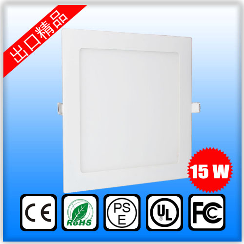 15W LED ceiling recessed grid downlight slim panel light