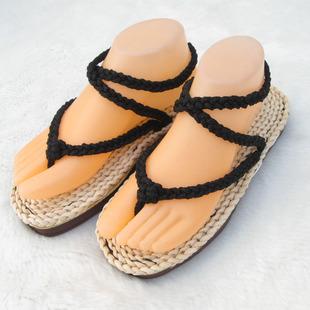 手工草鞋草编鞋 动漫周边Cosplay 夏季潮拖休闲套脚人字拖女鞋M20